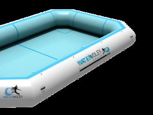 Diseño de piscina de Watervolley en 3d