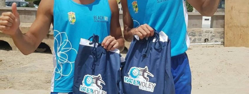 Hernan Tovar y Herrera agradeciendo la water sport pools por su colaboración en su temporada