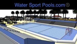 piscinas deportiva profesional water sport pools en un recinto deportivo 3D