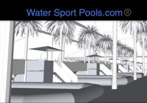 Piscinas deportivas profesionales Water sport Pools diseñas en 3D