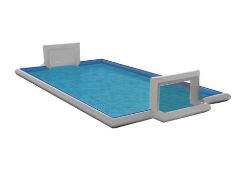 piscinas deportiva profesional watersoccer con fondo blanco