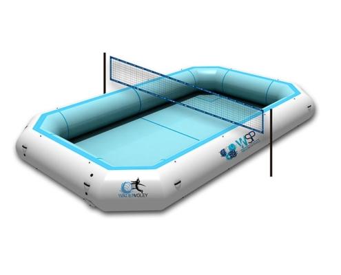 Piscina de watervoley con red watervolley con fondo blanco WSP®