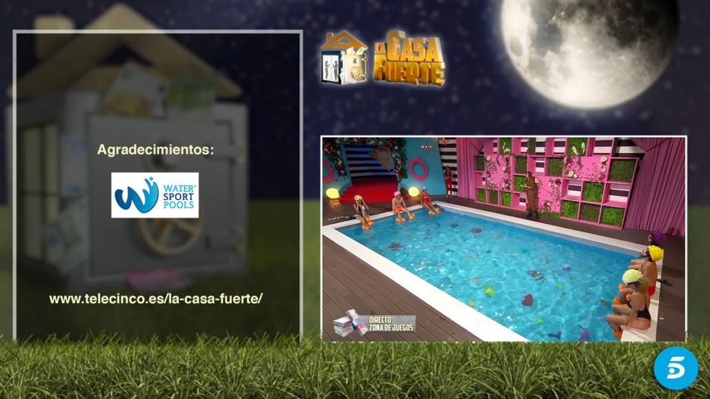 Escenario de La Casa Fuerte 2 de Telecinco con piscina de Watersportpools