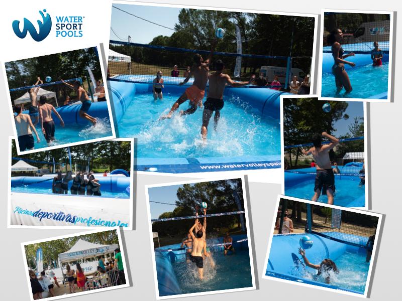 Mosaico de fotos Torneo Watervoley en Caldes de Malavella